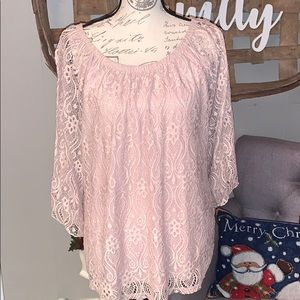 Brittany Black lace blouse size 1X